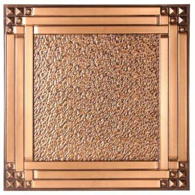 Genoa 2 ft. x 2 ft. Lay-in or Glue-up Ceiling Tile in Antique Gold (48 sq. ft. / case)