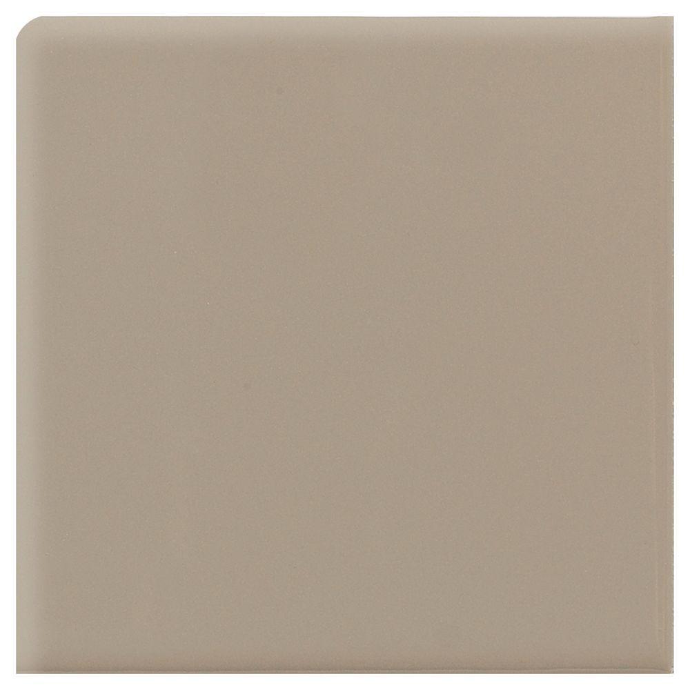 Daltile Semi-Gloss Uptown Taupe 2 in. x 2 in. Ceramic Bullnose Corner Wall Tile