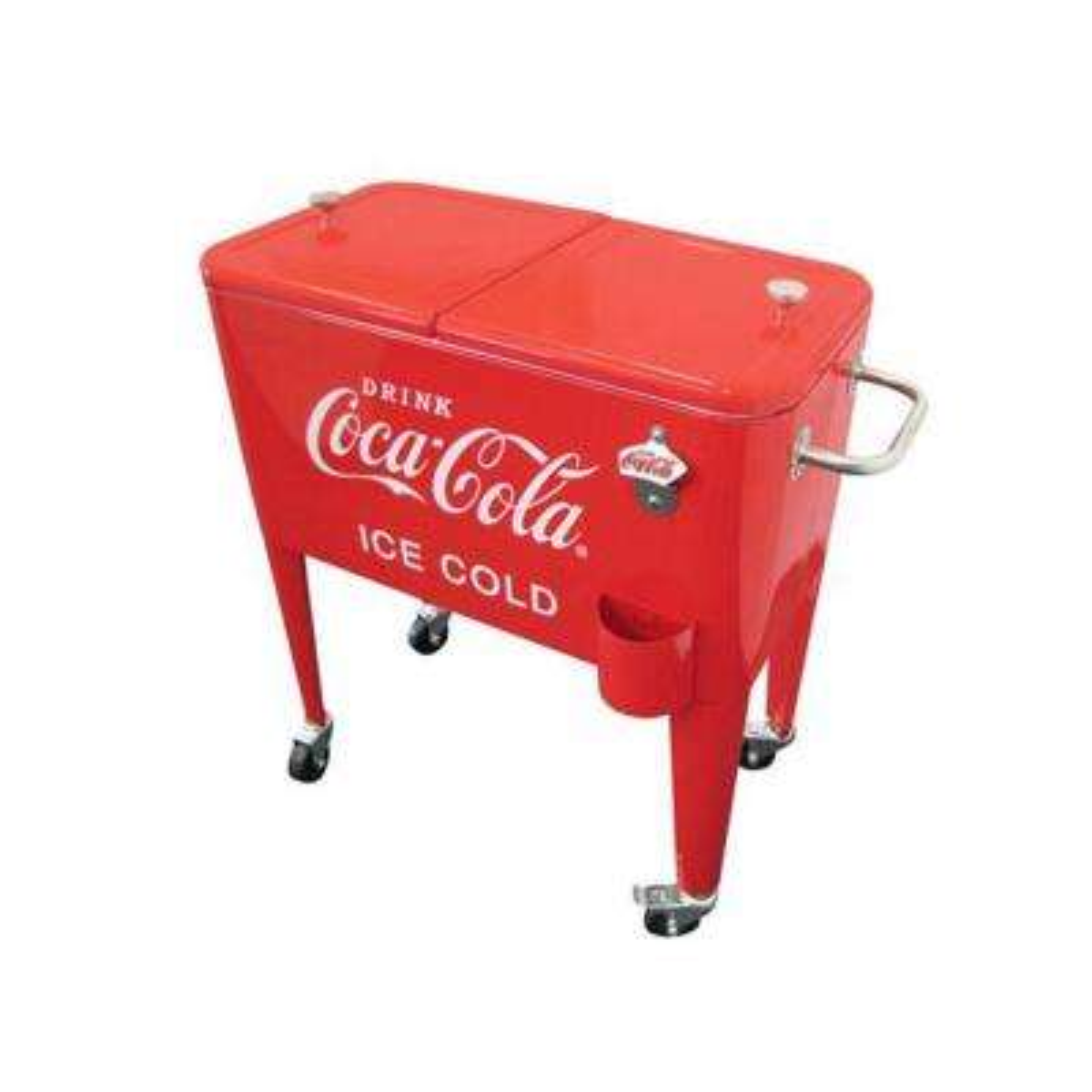 60 Qt. Ice Cold Red Retro Coca-Cola Cooler