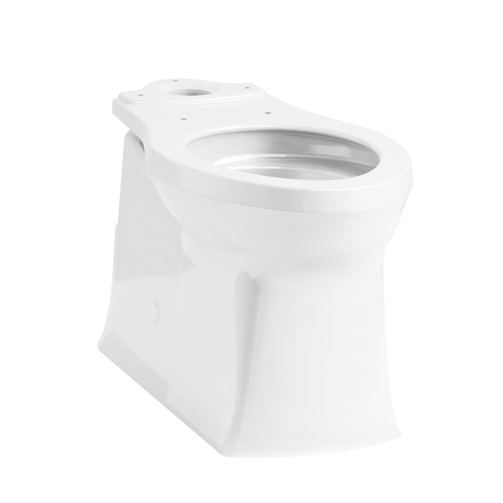 Corbelle 16.5 in. Skirted Elongated Toilet Bowl Only in White