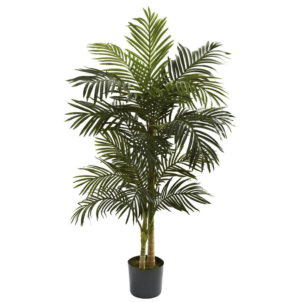 Nearly Natural 5 ft. Golden Cane Palm Tree