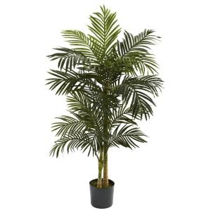 Indoor 5 ft. Golden Cane Palm Artificial Tree
