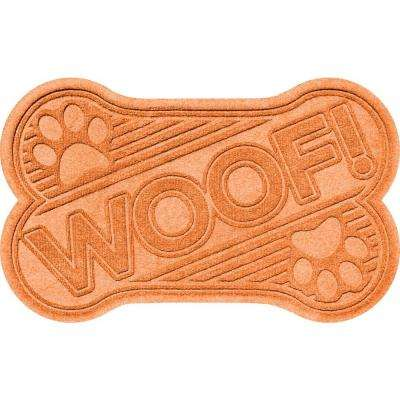 Aqua Shield Orange 24 in. x 36 in. Woof Pet Mat