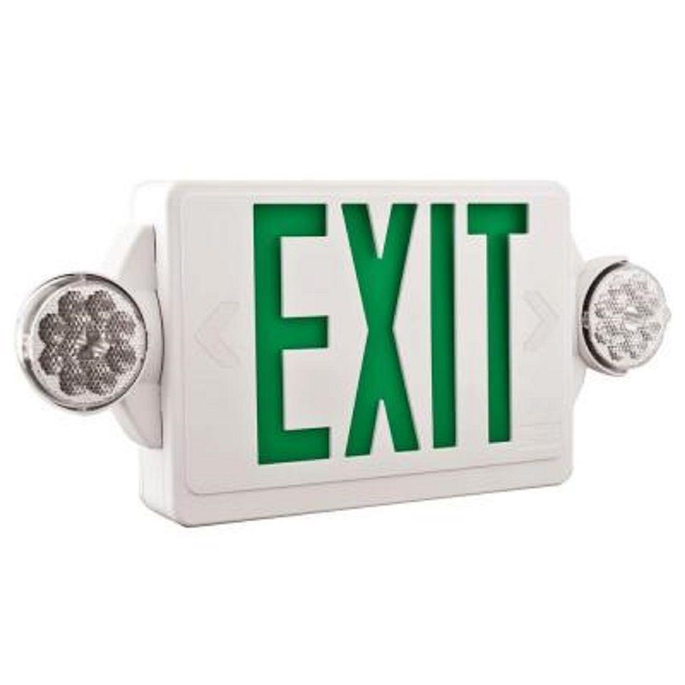 Quantum Thermoplastic Green LED Exit/Unit Combo