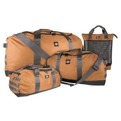 3-Piece 36 in. Tan Duffel Work and Tool Bag Combo Set