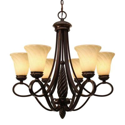 Laurent Collection 6-Light Cordoban Bronze Chandelier