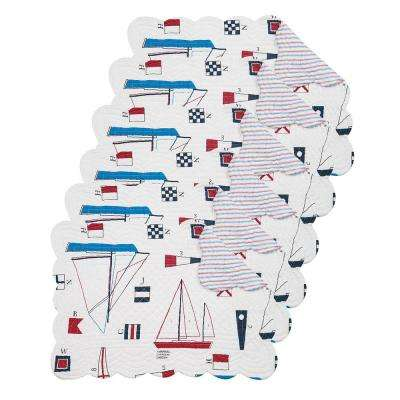 Windward Port Red Placemat (Set of 6)