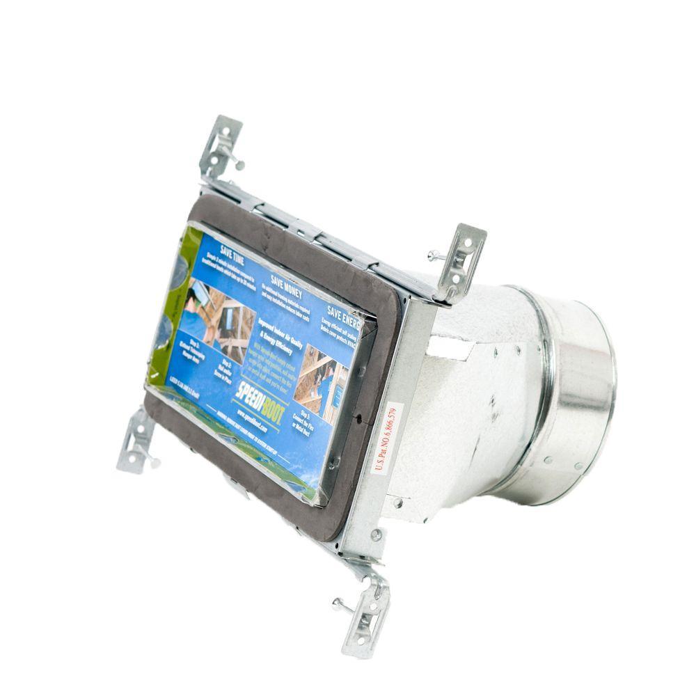 SPEEDI- BOOT 4 in. W x 10 in. L to 7 in. Diameter Straight Register Vent Boot with Adjustable Hangers