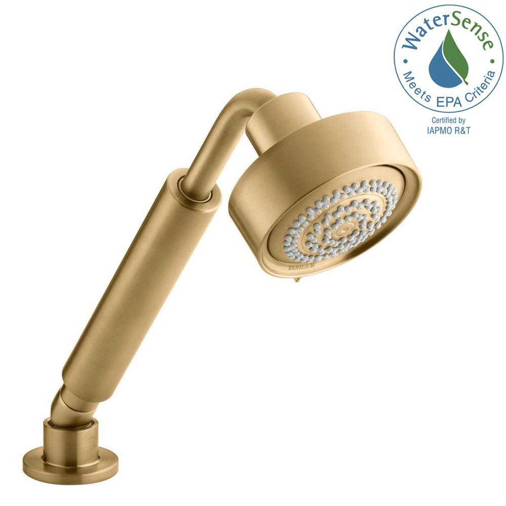 Purist 3 Spray Multifunction Handshower In Vibrant Moderne Brushed Gold