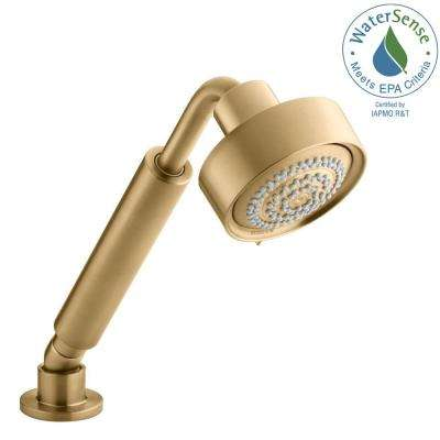 Genial Purist 3 Spray Multifunction Handheld Shower In Vibrant Moderne Brushed Gold