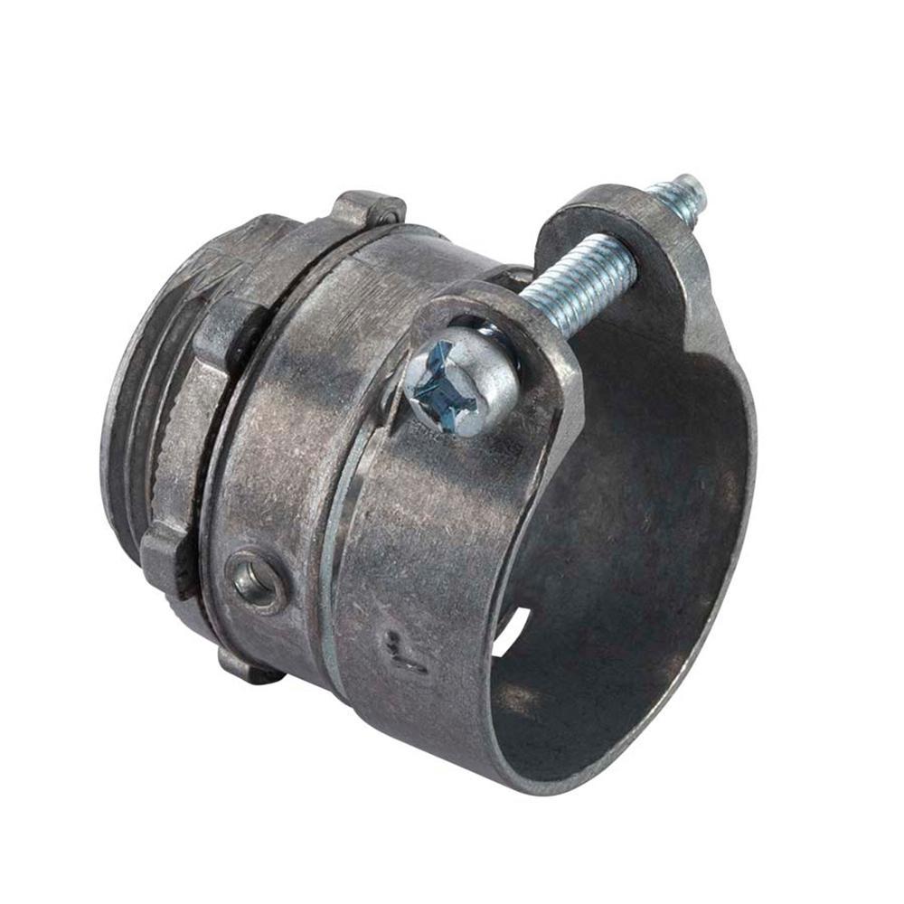 In flexible metal conduit fmc squeeze connector