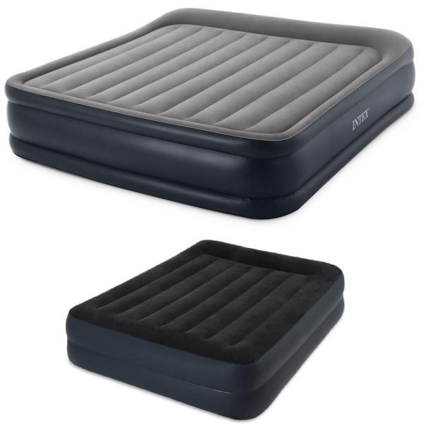 Air Mattress Inflatable Elevated Built-in Pillow Bed Queen /& Full size