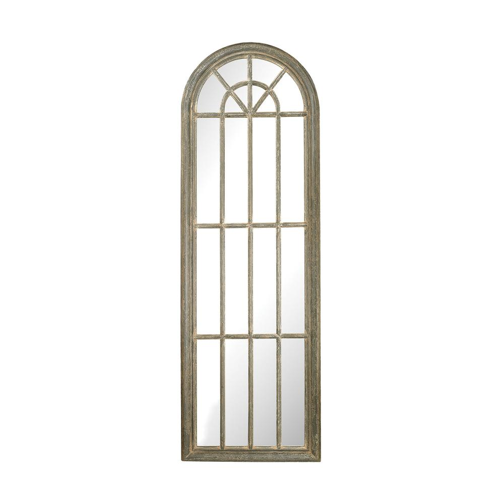 Titan Lighting 71 In X 24 In Arched Window Pane Framed