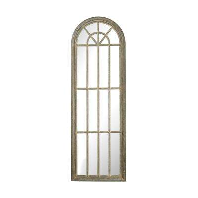 71 in. x 24 in. Arched Window Pane Framed Mirror