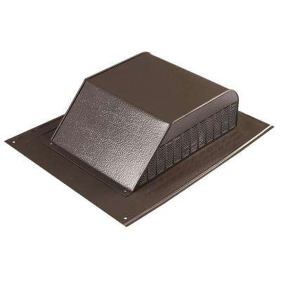 60 in. NFA Aluminum Slant Back Roof Louver Static Vent in Brown