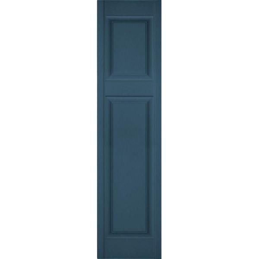 Ekena Millwork 14 1 2 In X 25 In Lifetime Vinyl Custom Offset Raised Panel Shutters Pair Classic Blue Lp3c14x02500cb The Home Depot