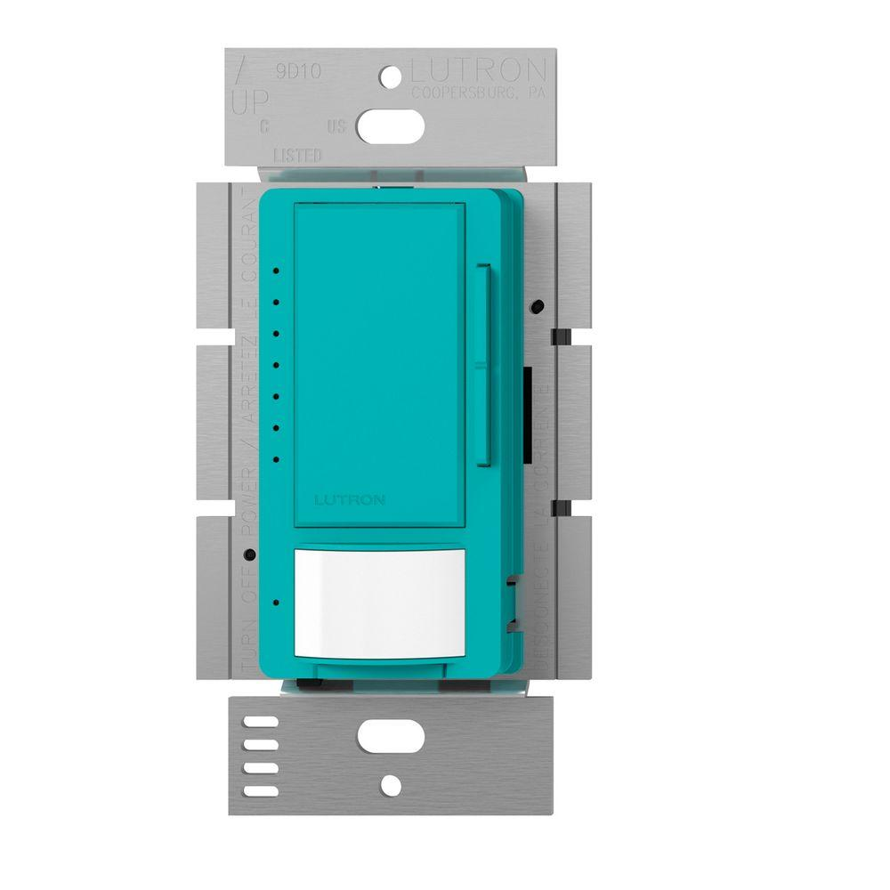 Lutron Maestro C.L Dimmer and Motion Sensor, Single Pole and Multi-Location, Turquoise