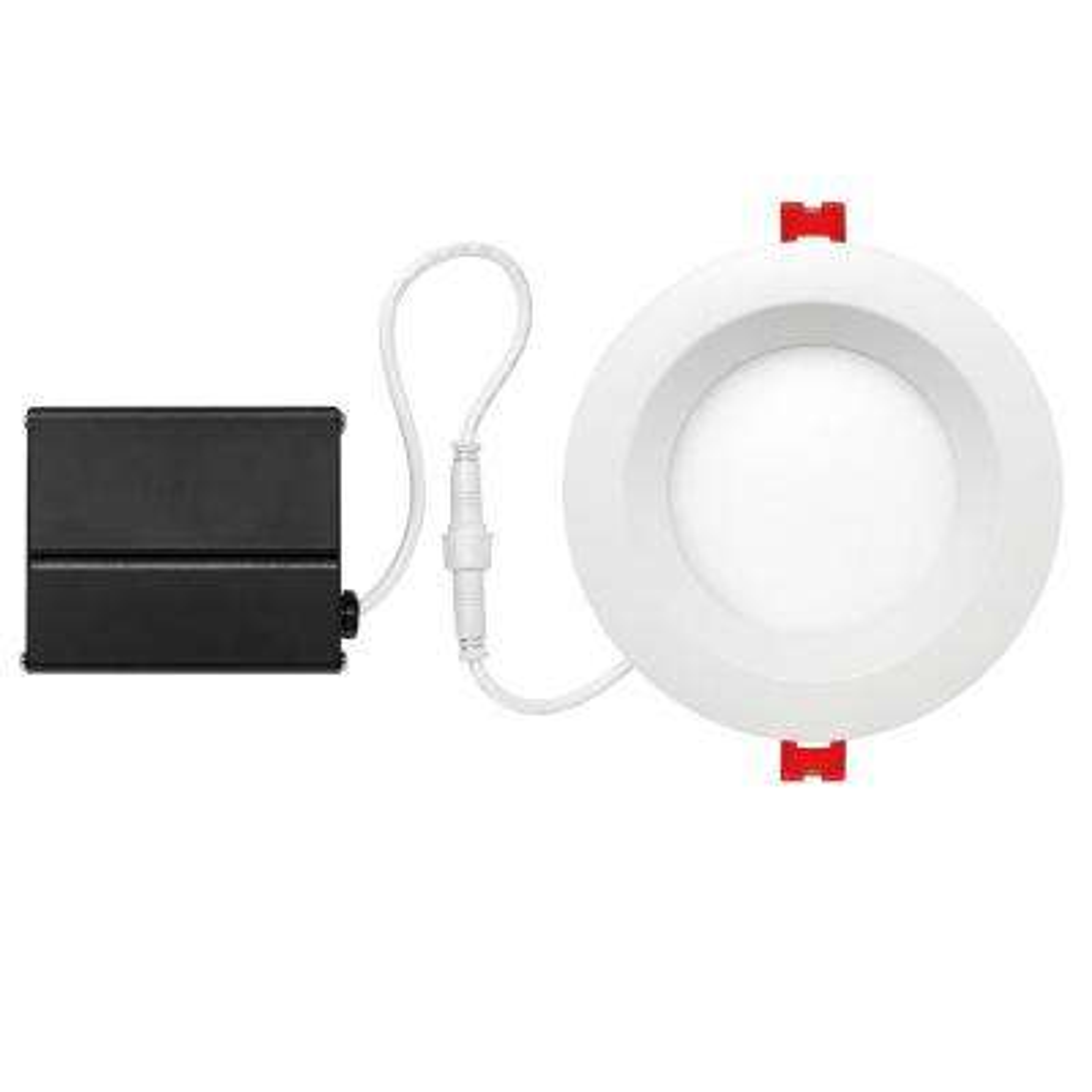Slimline Baffle 4 in. White Integrated LED Recessed Kit