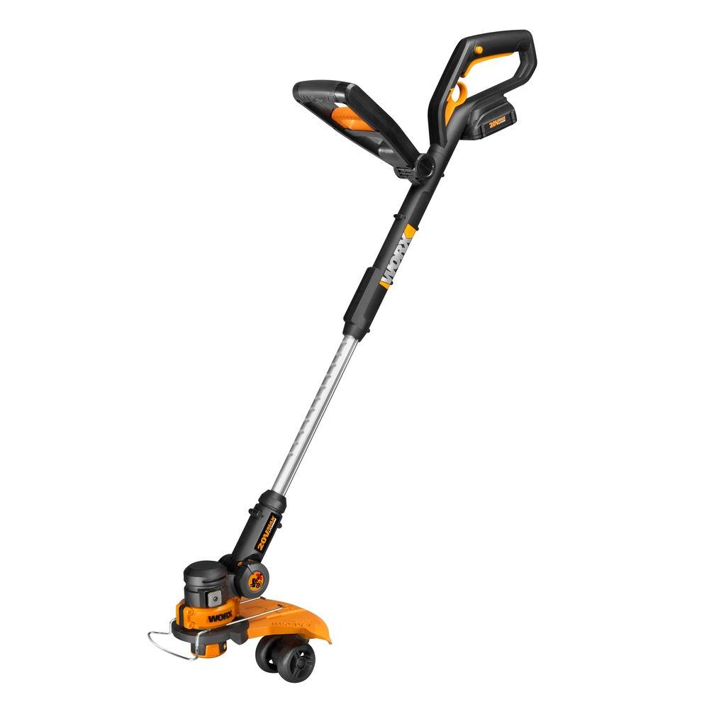 Worx 12 In 20 Volt Max Lithium Shaft Cordless Grass