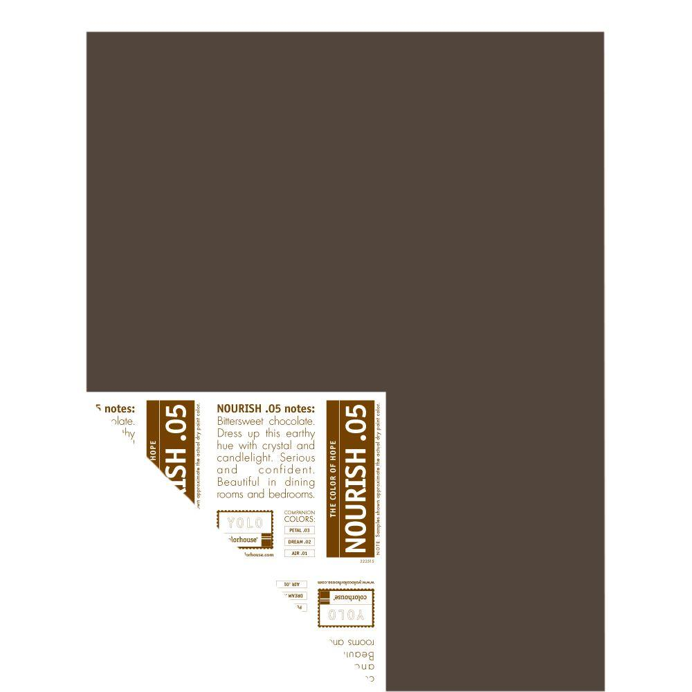 YOLO Colorhouse 12 in. x 16 in. Nourish .05 Pre-Painted Big Chip Sample