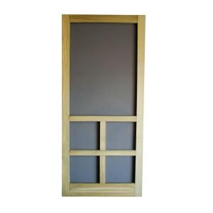 Screen Tight 32 in. x 80 in. Summit Pressure-Treaded Wood Screen ...