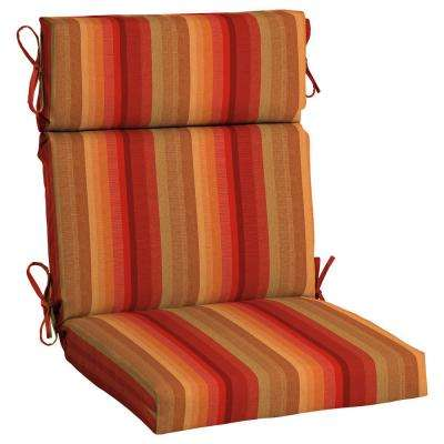 Sunbrella Astoria Sunset High Back Outdoor Dining Chair Cushion