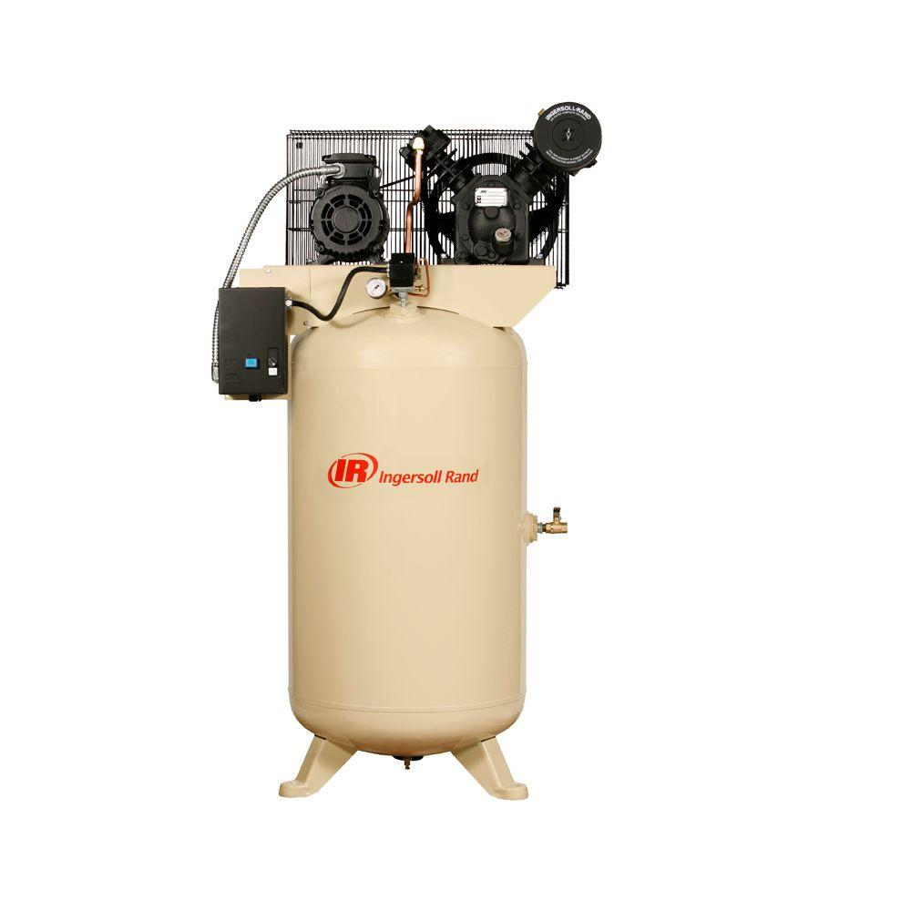 Ingersoll Rand Type 30 Reciprocating 80-Gal  5 HP Electric 200-Volt 3 Phase  Air Compressor