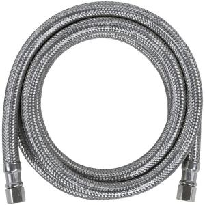 1//4 Compression Thread x 1//4 Compression Thread Length 2 Pack 6 Ft. 72-Inch Braided Stainless Steel Fluidmaster 12IM72 Ice Maker Connector