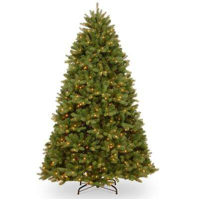 6-1/2 ft. Feel Real Newberry Spruce Hinged Tree with 650 Dual - Artificial Christmas Trees - Christmas Trees - The Home Depot