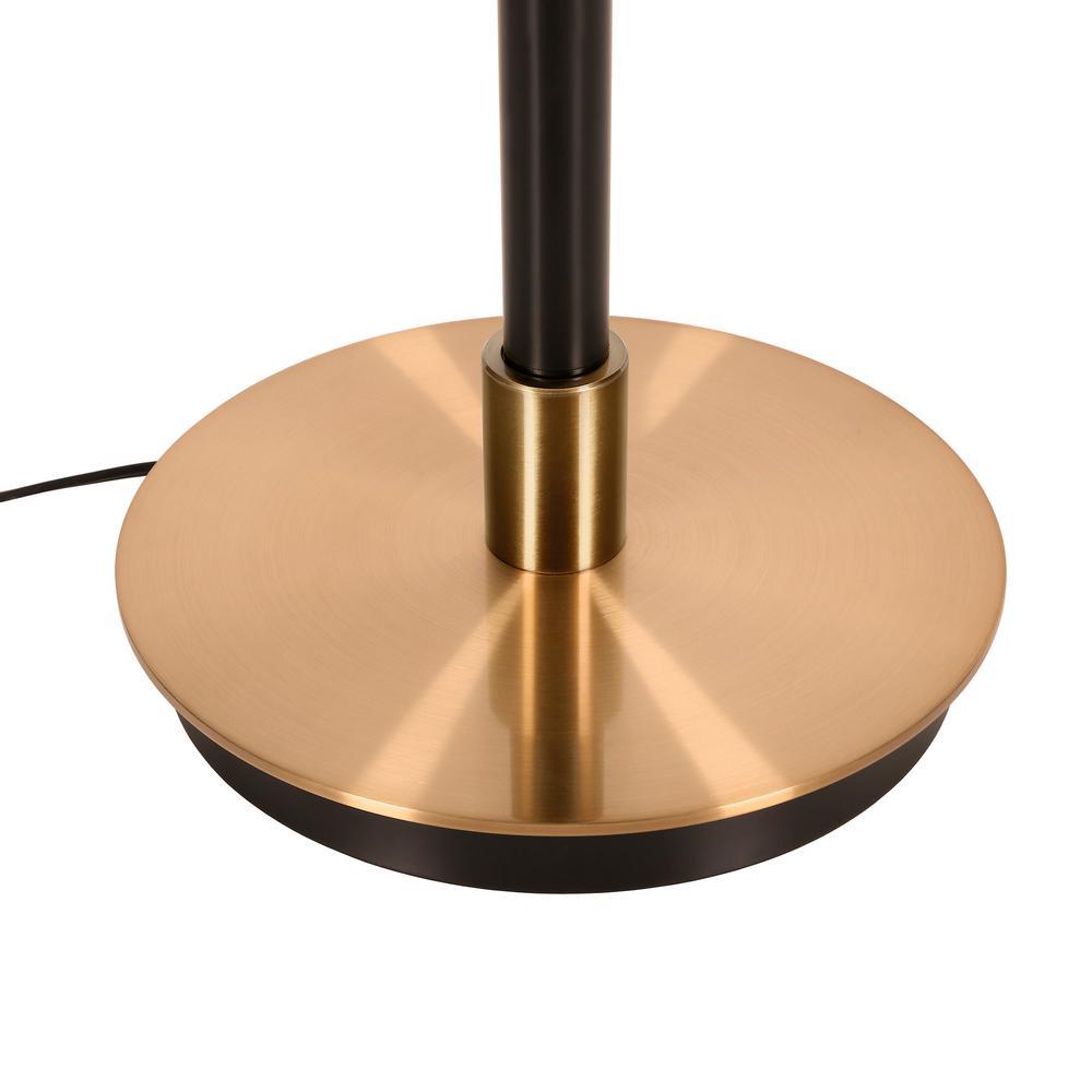 Meyer&Cross - Austen 65 in. Matte Black and Brass Floor Lamp