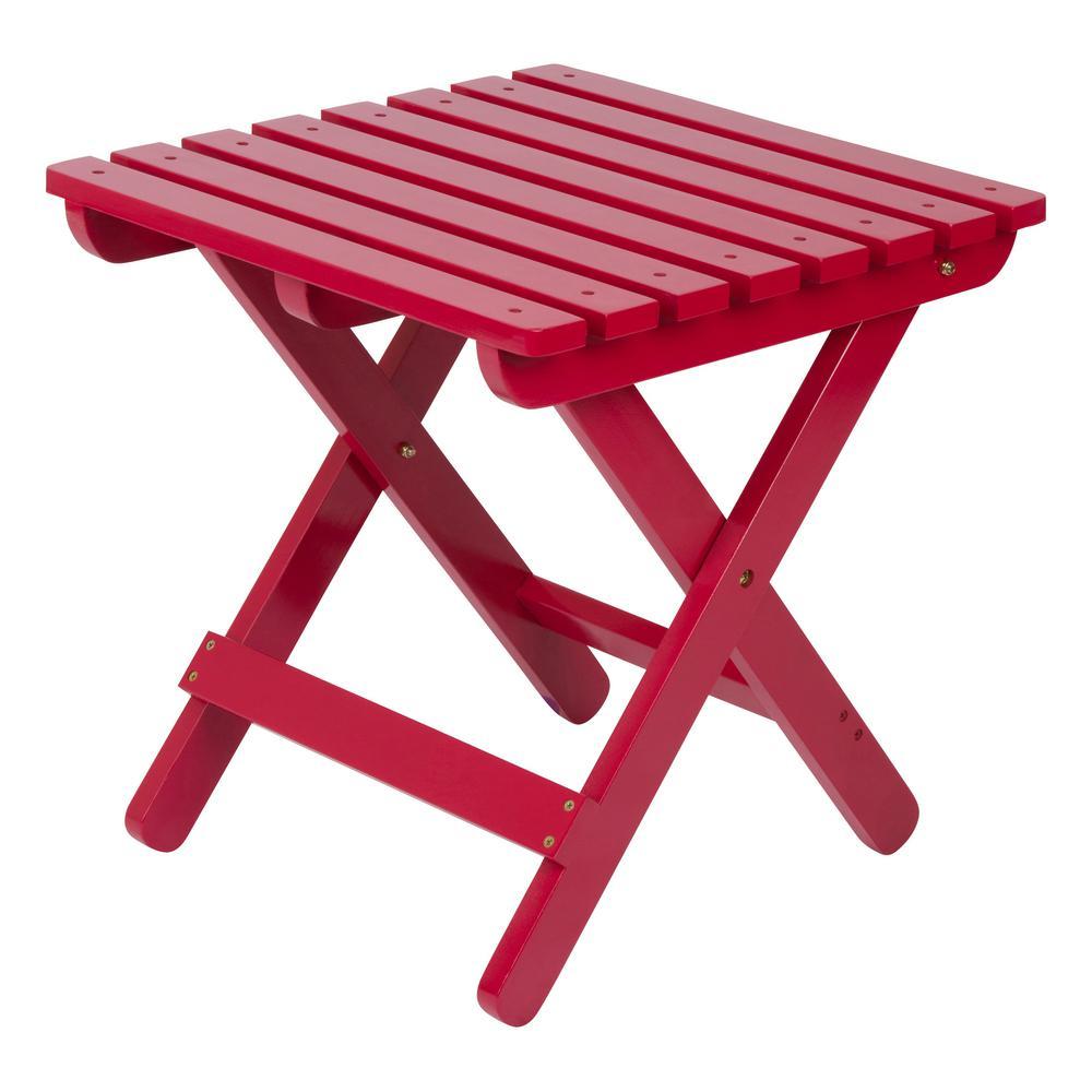 Adirondack Tomato Red Square Wood Folding Table