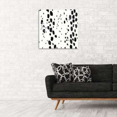 """30 in. x 30 in. """"Monochromatic"""" by Milo Printed and Painted Canvas Wall Art"""