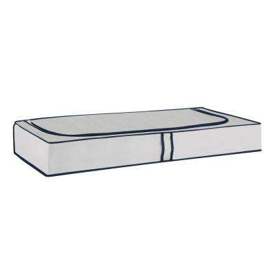 40 in. W x 6 in. H Light Gray Under Bed Storage Unit