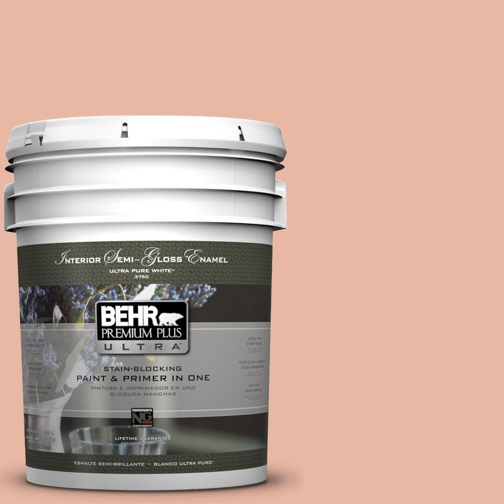 BEHR Premium Plus Ultra 5-gal. #M190-3 Pink Abalone Semi-Gloss Enamel Interior Paint