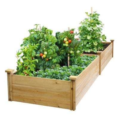 2 ft. x 8 ft. x 10.5 in. Unfinished (0.5 in. to 0.625 in. T) Value Cedar Raised Garden Bed