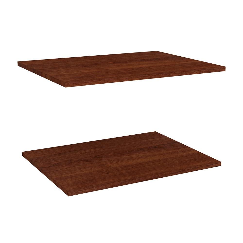 Impressions 25 in. Deluxe Extra Shelves in Dark Cherry (2-Pack)