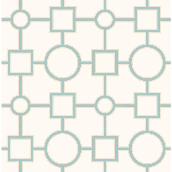 A-Street Matrix Turquoise Geometric Wallpaper 2625-21808