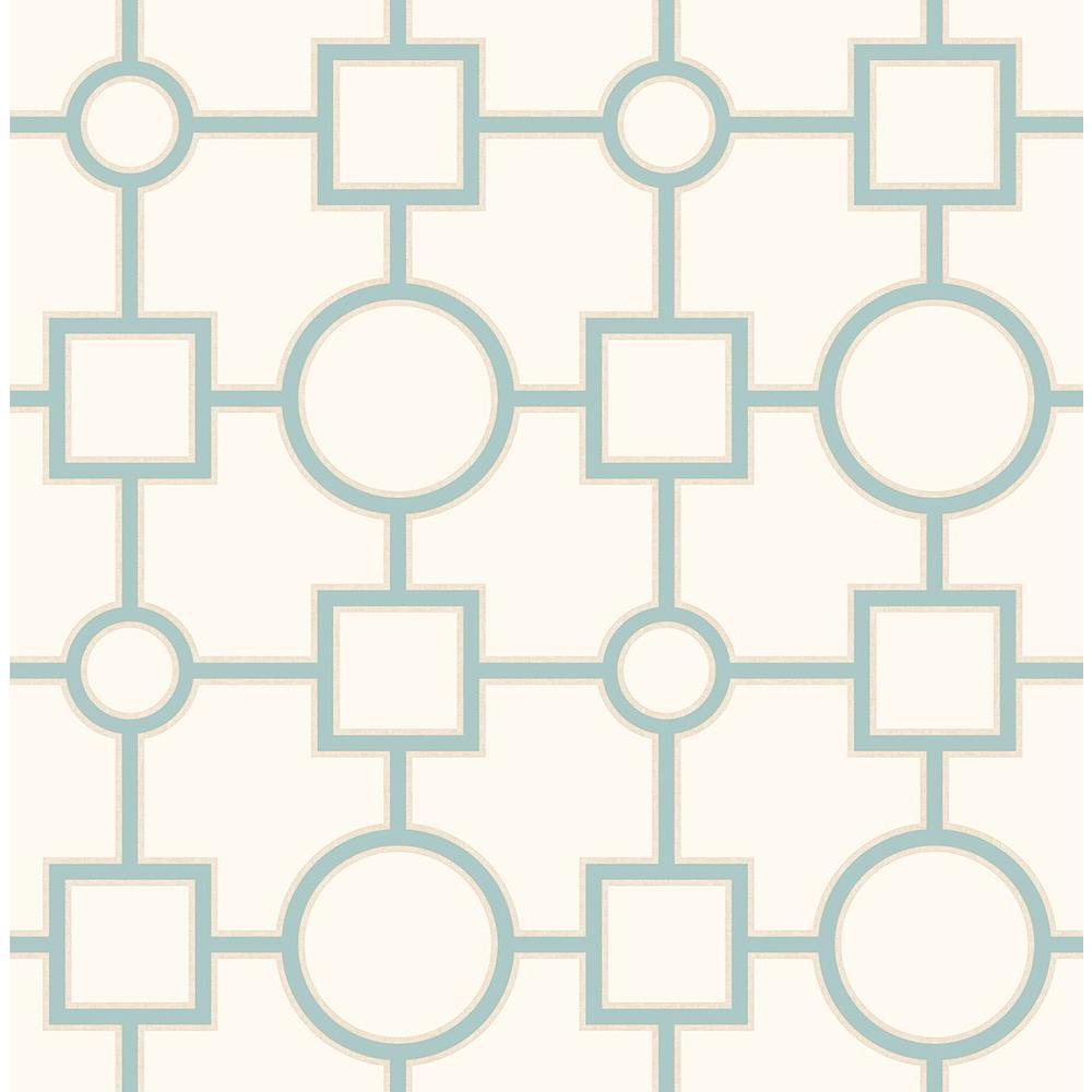 A-Street Matrix Turquoise Geometric Wallpaper Sample 2625-21808SAM