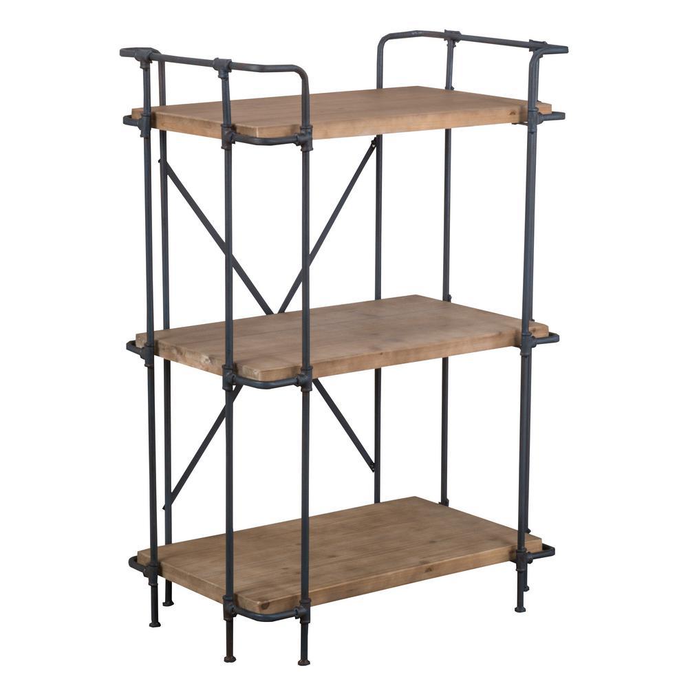 Yorktown Antique 3-Shelf Bookcase