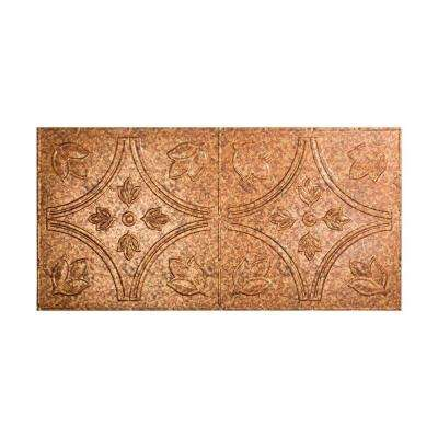 Traditional 5 - 2 ft. x 4 ft. Glue-up Ceiling Tile in Cracked Copper