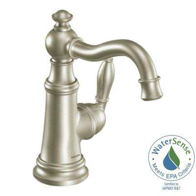 Weymouth Single Hole 1-Handle High-Arc Bathroom Faucet in Brushed Nickel