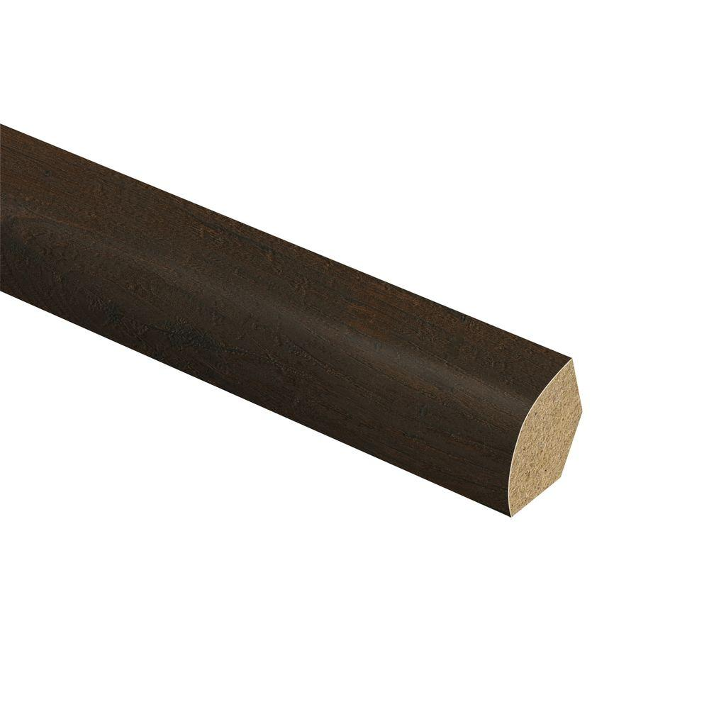 Zamma Warm Chestnut 5/8 in. Thick x 3/4 in. Wide x 94 in. Length Laminate Quarter Round Molding