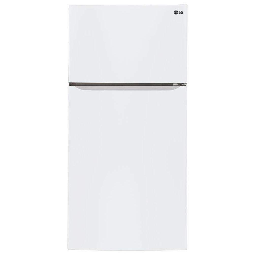 LG 24 cu. ft. Top Freezer Refrigerator in Smooth White
