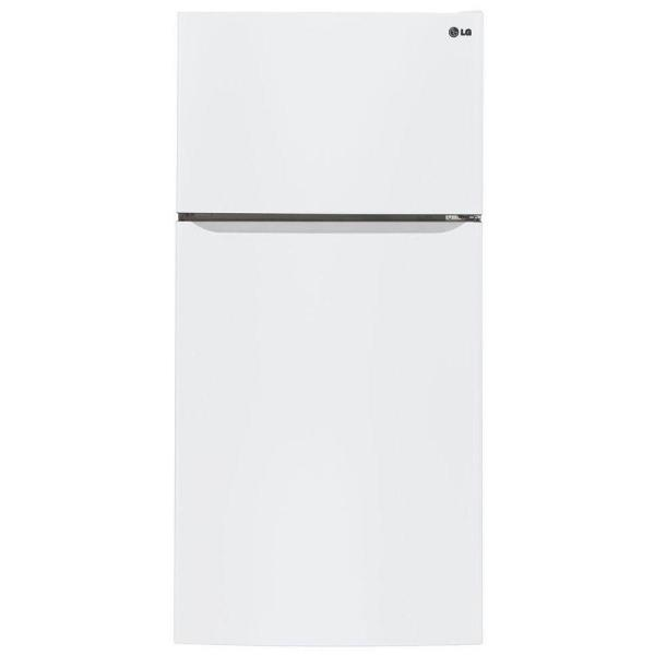 23.8 cu. ft. Top Freezer Refrigerator in Smooth White with Reversible Door