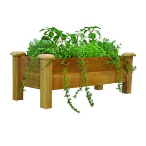 Gronomics 48 inch x 18 inch Rustic Cedar Planter Box by Gronomics