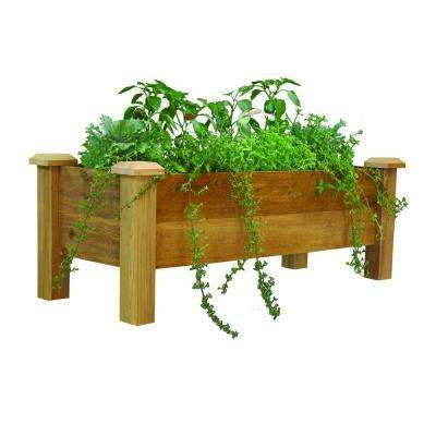 48 in. x 18 in. Rustic Cedar Planter Box