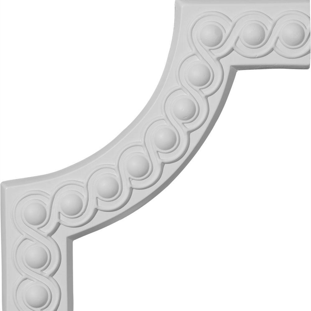 3/4 in. x 10-1/4 in. x 10-1/4 in. Polyurethane Foster Running Coin II Panel Moulding Corner