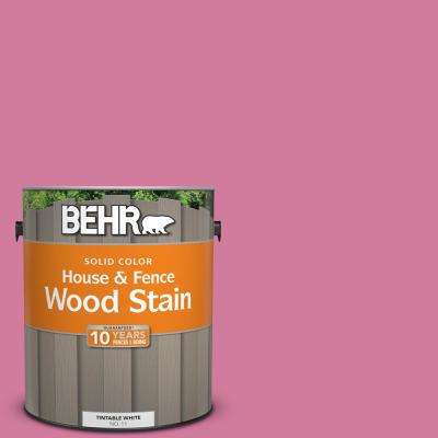 1 gal. #P130-5 Little Bow Pink Solid Color House and Fence Exterior Wood Stain