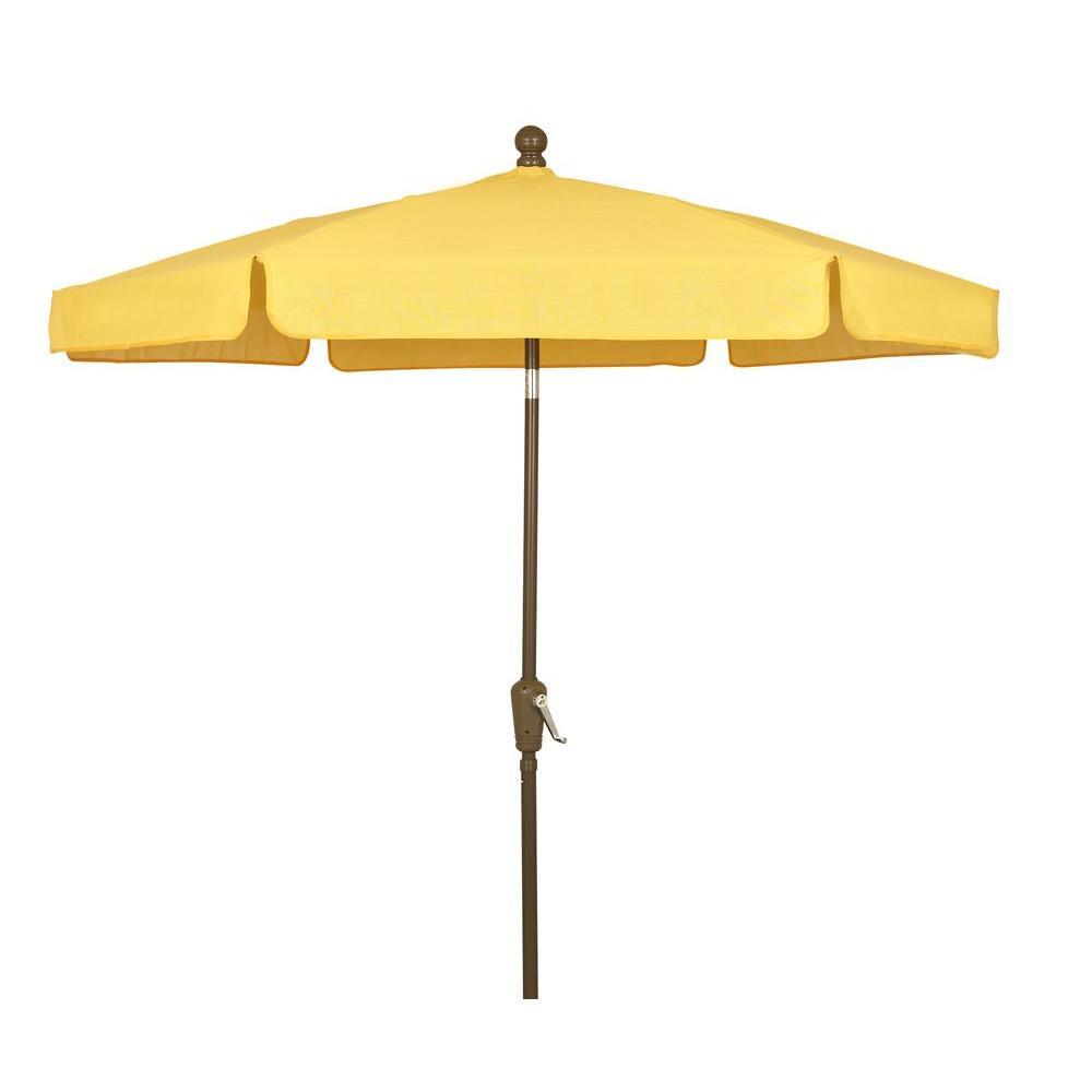 fiberbuilt umbrellas 7 5 ft patio umbrella in yellow