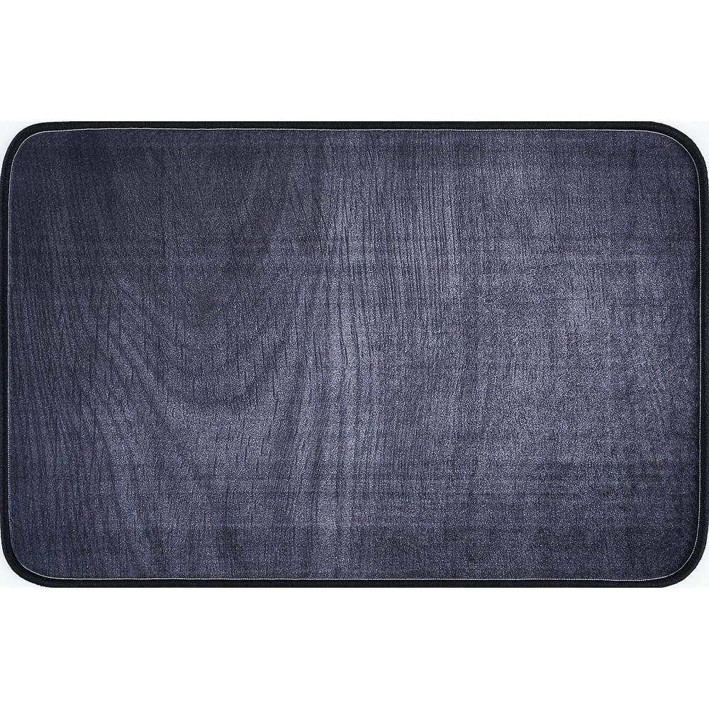 Luxor Home Charcoal 2 ft. x 3 ft. Anti-Fatigue Non-Slip Comfort